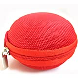 Domire Carrying Hard Case Bag for Earphone Headphone Red