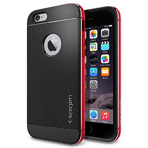 iPhone 6 ケース, Spigen® [ リアル アルミニウム バンパー] ネオ・ハイブリッド メタル iPhone 4.7 (2014)  The New iPhone アイフォン6 (国内正規品) (メタル・レッド SGP11040)