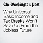 Why Universal Basic Income and Tax Breaks Won't Save Us From the Jobless Future | Vivek Wadhwa