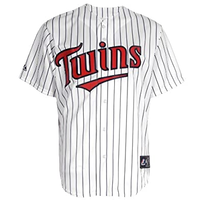 MLB Minnesota Twins Home Replica Baseball Youth Jersey, White/Navy