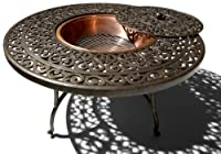 Strathwood St. Thomas Cast-Aluminum Fire Pit with Table by Strathwood