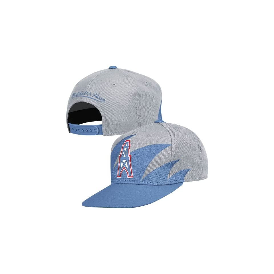 96d62fa70 Houston Oilers Mitchell & Ness Shark Tooth Vintage Snap Back Hat on ...