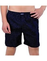 BUGG Brand Printed Boxer Shorts - Blue Line Prints