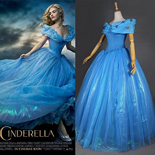 2015 New Movie Character Cinderella Costumes,women's Cosply Cinderella Dress Adult