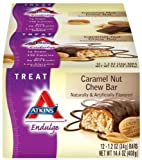 Atkins Endulge Bars, Caramel Nut Chew, 1.2-Ounce Bars, 12 Count