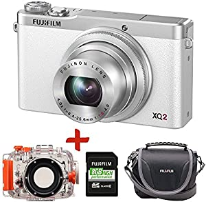 Fuji XQ2 Underwater Digital Camera Dive Bundle + 8GB + Fuji Carry Case (Fujifilm XQ2 Camera w/ Fuji WP-XQ1 Underwater Housing, Waterproof to 40 Metres Depth, F1.8 Bright Lens, WiFi, 12MP X-Trans CMOS II Sensor, 4x Optical Zoom, 3 inch LCD, Full 1080 HD Videos)