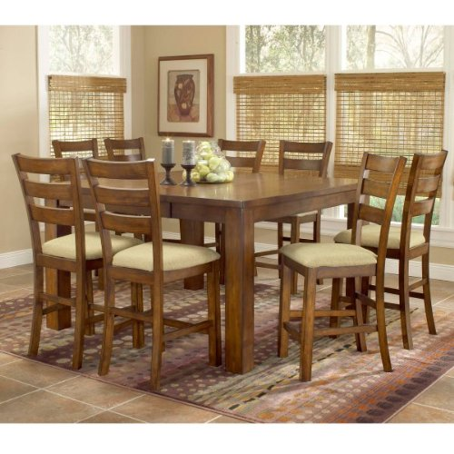 Hemstead 9-Piece Counter Height Dining Room Furniture Set - Hillsdale Furniture - 4941DTBSG9