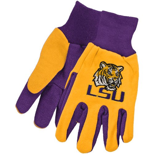 NCAA McArthur LSU Tigers Two-Tone Utility Gloves - Purple/Gold at Amazon.com