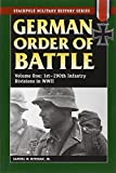 German Order of Battle (Stackpole Military History)