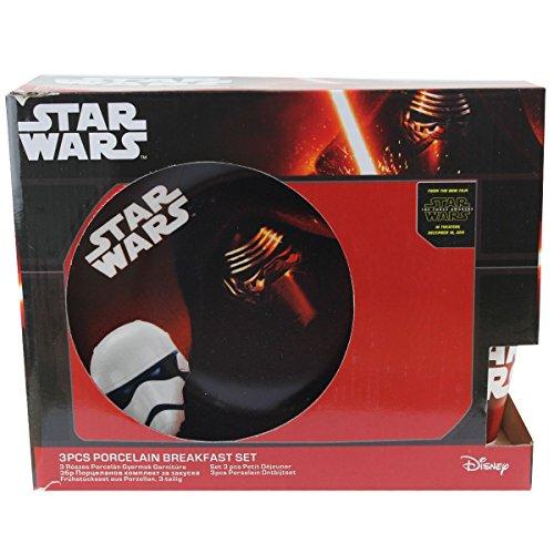 Set di 3 pezzi Piatto Tazza Ciotola Ragazzo Star Wars
