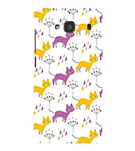 Animated Design Many Cat 3D Hard Polycarbonate Designer Back Case Cover for Xiaomi Mi 2S :: Xiaomi Redmi 2S :: Xiaomi Redmi 2 Prime :: Xiaomi Redmi 2 Note