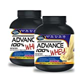 Advance 100% Whey Protein 1kg Chocolate& ADVANCE 100% WHEY 25gm Protein Per 33gm 1kg Vanilla (Combo Offer)
