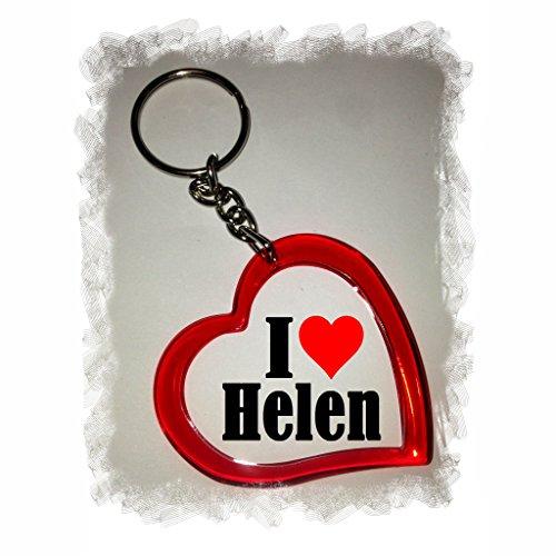 """ESCLUSIVO: Cuore Portachiavi/ Keychain """"I Love Helen"""" , una grande idea regalo per il vostro partner, la famiglia e molti altri - regalo di Pasqua, Partner di Pasqua rimorchio, ciondoli zaino, sacchetto incanta, incanta amore, ti amo, amici, amanti, accessorio, made in Germany."""