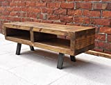 Contemporary rustic industrial tv stand or coffee table 100 cm, width 100cm