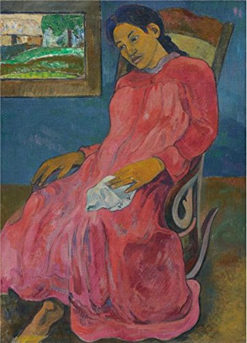 Oil Painting 'Paul Gauguin,Faaturuma,1891' Printing On High Quality Polyster Canvas , 10x14 Inch / 25x35 Cm ,the Best Powder Room Artwork And Home Decoration And Gifts Is This High Quality Art Decorative Prints On Canvas (Remote Pressure Balance Valve compare prices)