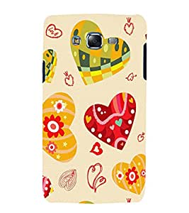 printtech Love Heart Design Back Case Cover for Samsung Galaxy J7 / Samsung Galaxy J7 J700F