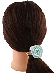 Anuradha Art Green Colour Floral Stylish Look Hair Accessories Hair Band Stylish Rubber Band For Women/Girls