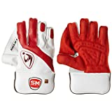 SM Collide Wicket Keeping Gloves, Men's (White/Red)