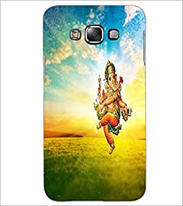 PrintDhaba Lord Ganesha D-3750 Back Case Cover for SAMSUNG GALAXY A7 (Multi-Coloured)