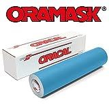 Oracal ORAMASK 813 Stencil Film 12 Inch x 150 Foot Roll (Color: blue, Tamaño: 12