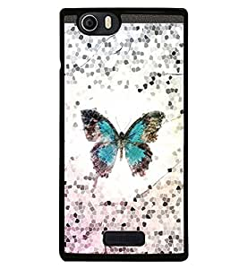 Fuson Premium Metamorphosis Metal Printed with Hard Plastic Back Case Cover for Micromax Canvas Nitro 2 E311