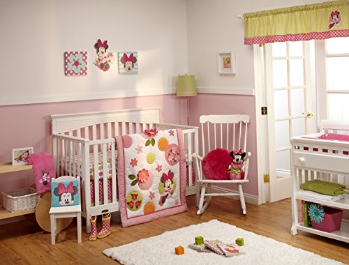 Disney Minnie Petals Perfect 4 Piece Crib Bedding Set