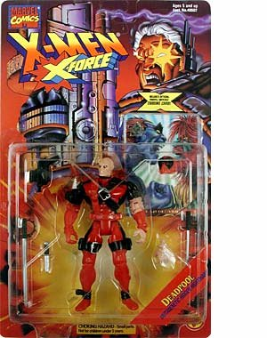 X-Men X-Force 1995 DEADPOOL action figure & collector card (Iron Man Action Figure )