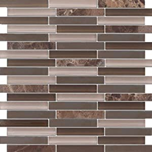 zen chocolate espresso stone glass mosaic tiles for