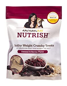 Rachael Ray Nutrish Healthy Weight Treats, Oatmeal & Berries Crunchies Recipe, 10-Ounce Pouch (Pack of 5)
