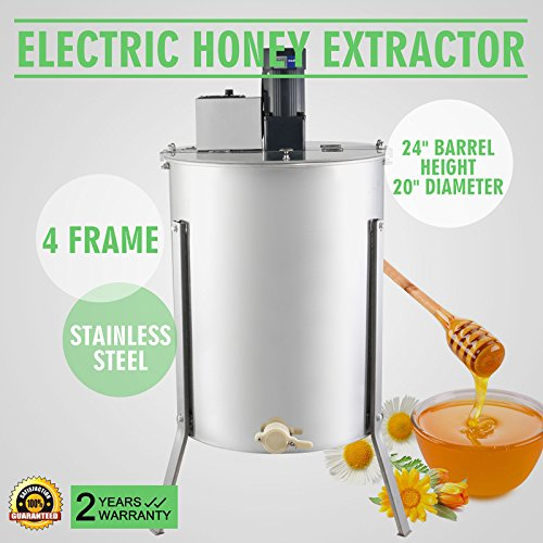 OrangeA Honey Extractor Bee Honey Extractor Electric Honeycomb Spinner 4 Frame Stainless Steel Beekeeping Accessory (4 Frame Electric Honey Extractor) (Electric Honey Extractor compare prices)