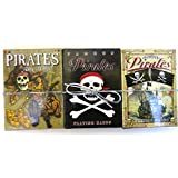 Pirates, Cross Bone Pirates and Famous Pirates, Playing Cards, Set of Three, Fifty Four in a Set