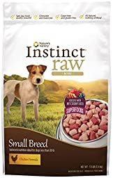 Nature\'s Variety Instinct Raw Frozen Chicken Formula Bites Boosted for Small Breed Dogs, 3.5 lb Bag