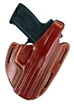 "Gould & Goodrich 803-94LH Gold Line Three Slot Pancake Holster - Left Hand (Chestnut Brown) Fits RUGER 4"" Bbl., GP100, Security Six, Service Six, Speed Six; S&W 44, .357, 581, 586, 681, 686, 696"