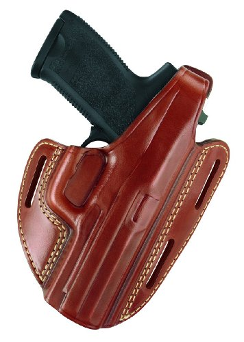 """Gould & Goodrich 803-94LH Gold Line Three Slot Pancake Holster - Left Hand (Chestnut Brown) Fits RUGER 4"""" Bbl., GP100, Security Six, Service Six, Speed Six; S&W 44, .357, 581, 586, 681, 686, 696"""