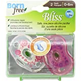 Born Free Bliss Orthodontic Pacifier Girl 0-6 Months 2-Count