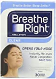 Breathe Right Nasal Strips Clear Large
