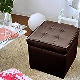 ワイエムワールド スツール ボックススツール 椅子 収納機能付きボックス  【色: ブラウン 】 00-sf3838-1