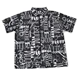 Graffiti Print Grooming Jacket in Black