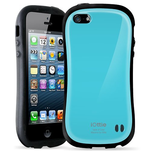 Great Price iOttie CSCEIO204 Macaron Protective Case Cover for Apple iPhone 5 - 1 Pack - Retail Packaging - Sky Blue