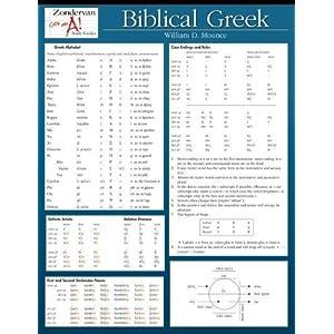Biblical Greek Laminated Sheet: William D Mounce: 9780310262947: Books ...