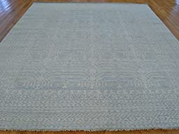 8 x 10 HAND KNOTTED WASHED OUT SKY BLUE PESHAWAR ORIENTAL RUG VEG DYES G20500