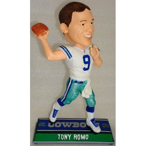 Buy Low Price Forever Collectibles 2010 Dallas Cowboys Tony Romo End Zone Bobble Head Figure (B003ZZUI3Q)