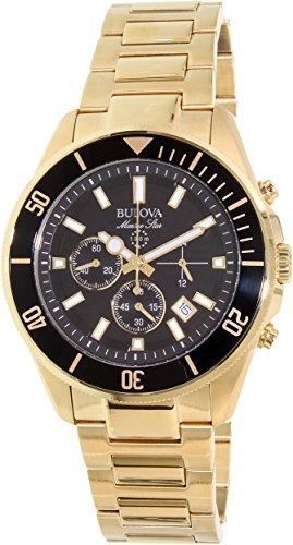 Bulova Men's Marine Star - 98B250 Yellow Gold Watch