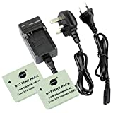 DSTE® 2pcs NB-5L Replacement Li-ion Battery + Charger DC22U for Canon PowerShot S100, S110, SD700 IS, SD790 IS, SD800 IS, SD850 IS, SD870 IS, SD880 IS, SD890 IS, SD900 IS, SD950 IS, SD970 IS, SD990 IS, SX200 IS, SX210 IS, SX220 IS, SX230 HS Digital Camer