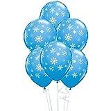 "Snowflakes & Sparkles Robins Egg Blue 11"" Qualatex Latex Balloons x 5"