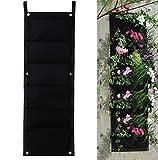 JOYOOO Vaso a 7 tasche per piante da parete per interni ed esterni