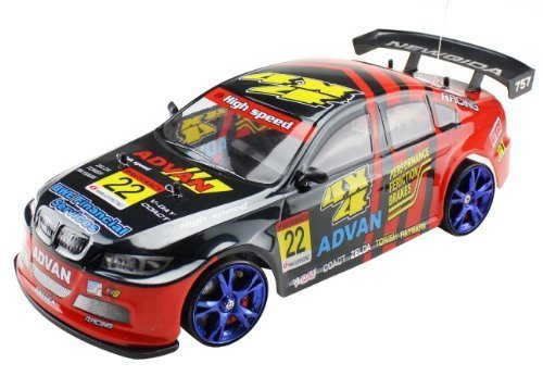 """Large 4Wd Drift Car 18"""" Rc 1/10 Radio Control Electric Rtr Racing Vehicle With Flash Light (Shell Painting May Vary)"""