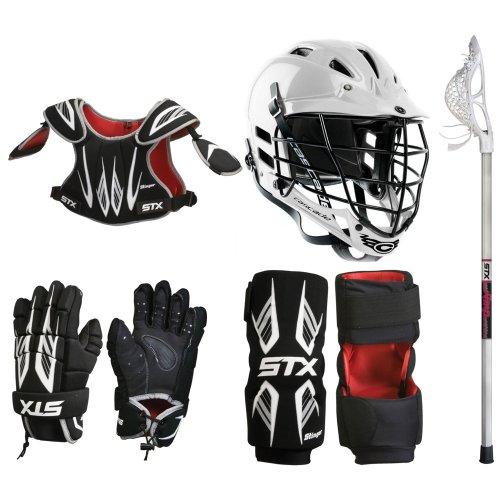 STX Stinger Lacrosse Starter Package - Gloves, Shoulder Pads, Arm Pads, Stick & Helmet