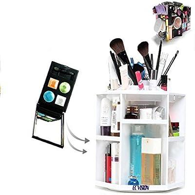 ECVISION Big Capacity Rotating Acrylic Cosmetic/revolving makeup organizer/Cosmetics Storage