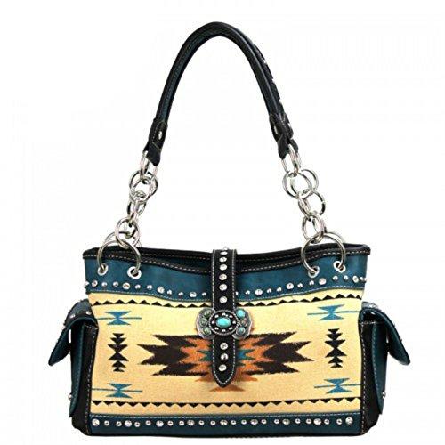 Montana West Western Aztec Concho Collection Handbag